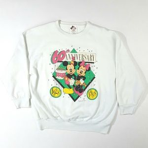 VTG 80's Disney Mickey & Minnie Crewneck Sweater